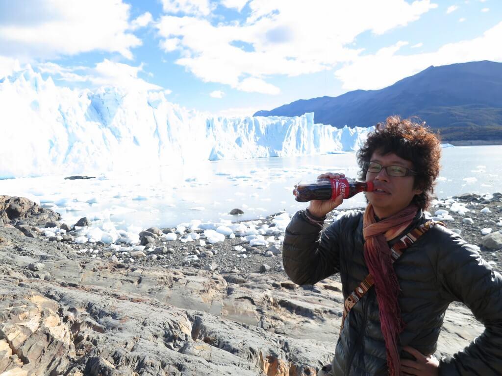 今日のコーラ ペリト・モレノ氷河トレッキングは最高っすな♪