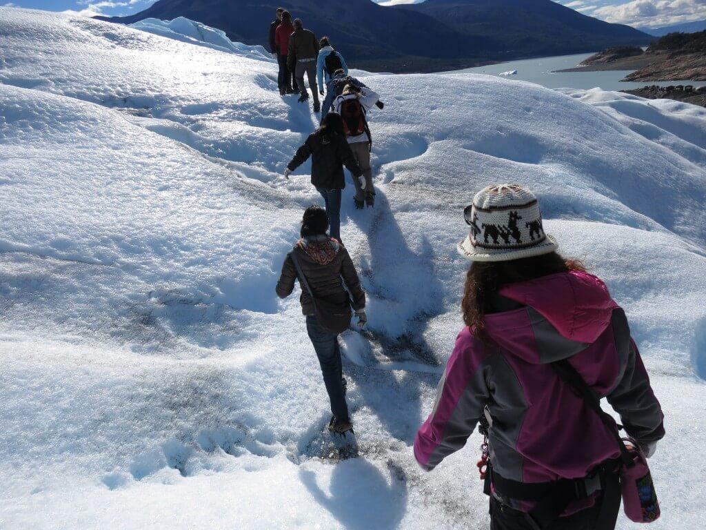 ペリト・モレノ氷河トレッキング!クレパスは危険だよ!