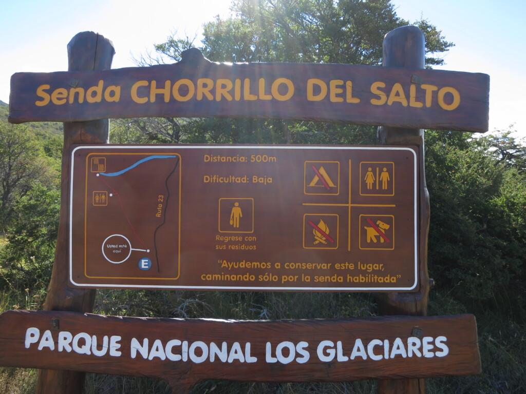 エル・チャルテン 滝 Senda Chorrillo del salto