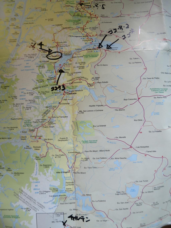 マーブルカテドラル 行き方 地図 MAP エル・チャルテン プエルト・リオ・トランキーロ