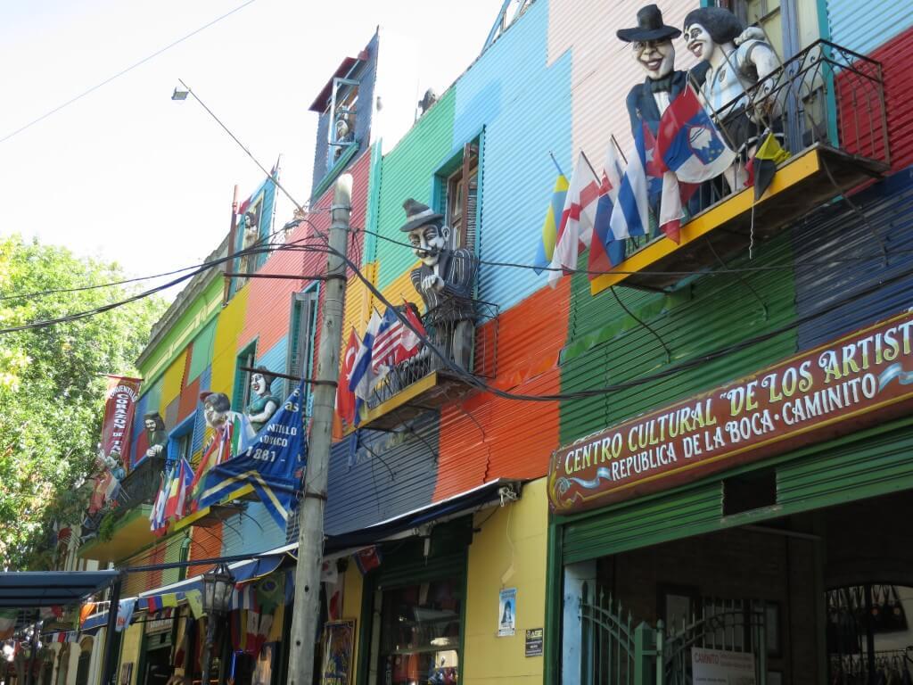 ボカ地区 マラドーナ アルゼンチン カラフルな建物