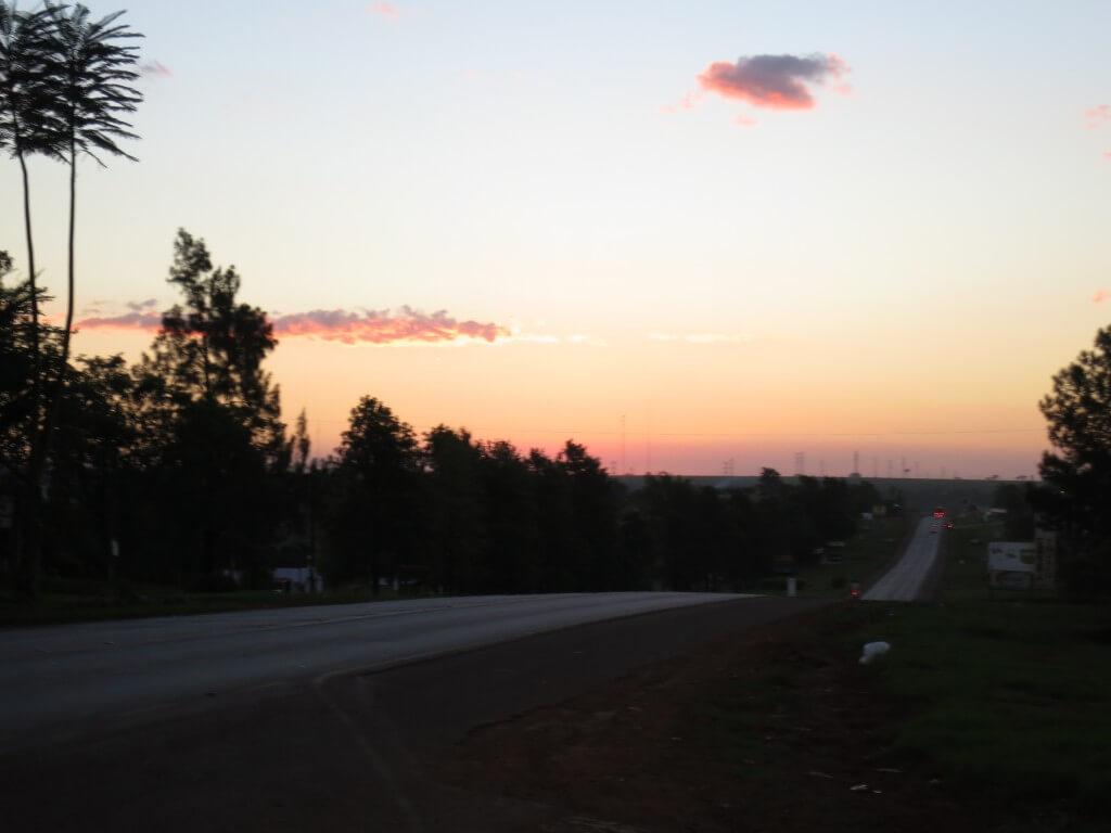 イグアス居住地 パラグアイ 41Km地点