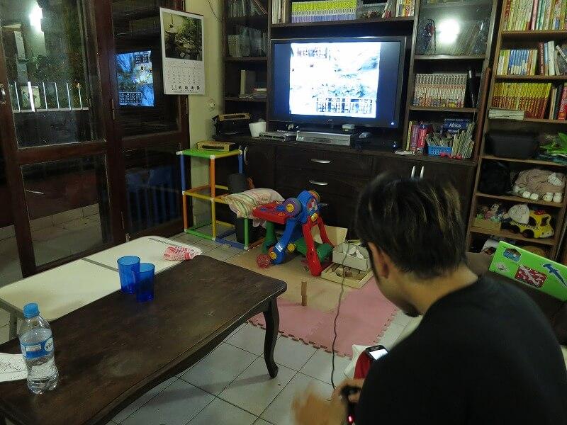 民宿らぱちょ ドラクエ ゲーム 大型TV アスンシオン パラグアイ