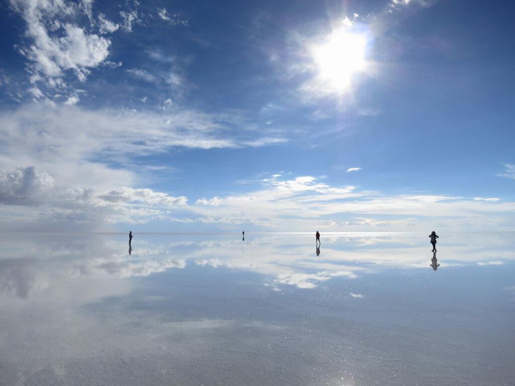 ウユニ塩湖 ボリビア 昼間