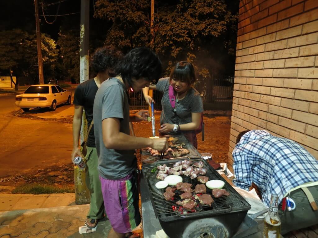 民宿らぱちょ BBQ大会 アスンシオン パラグアイ