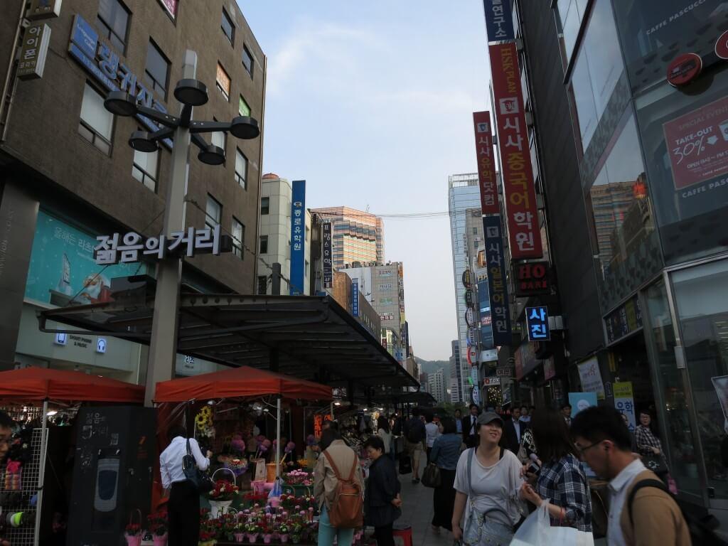 明洞中心部 ソウル 韓国旅行