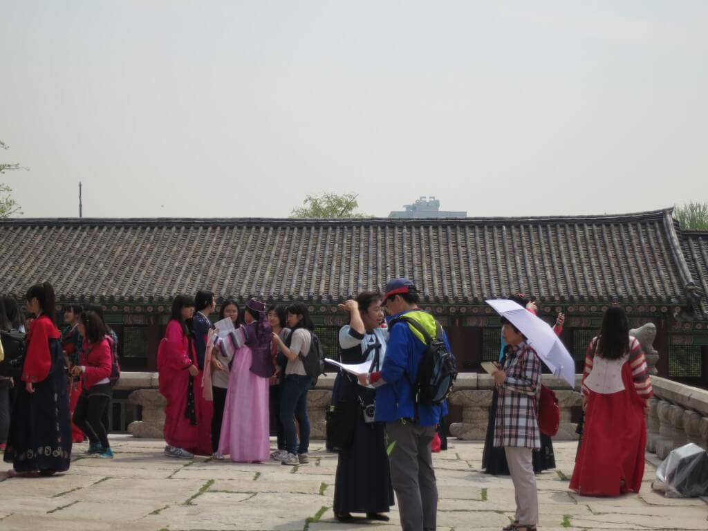 景福宮でチマチョゴリを着た韓国女子にモテモテの時代きた!