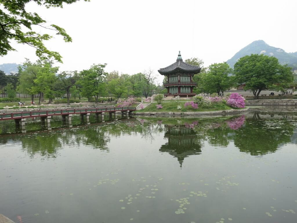 香遠亭 景福宮 ソウル 韓国