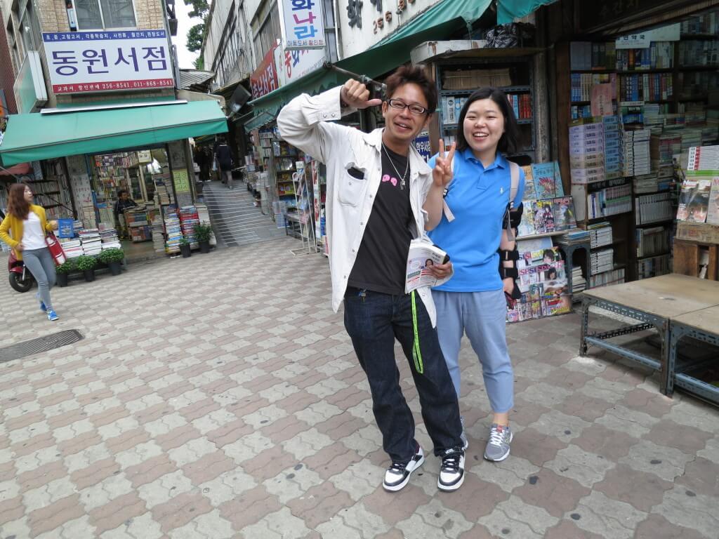 韓国人の友達に案内されての釜山の観光でおすすめの寶水洞本屋通り