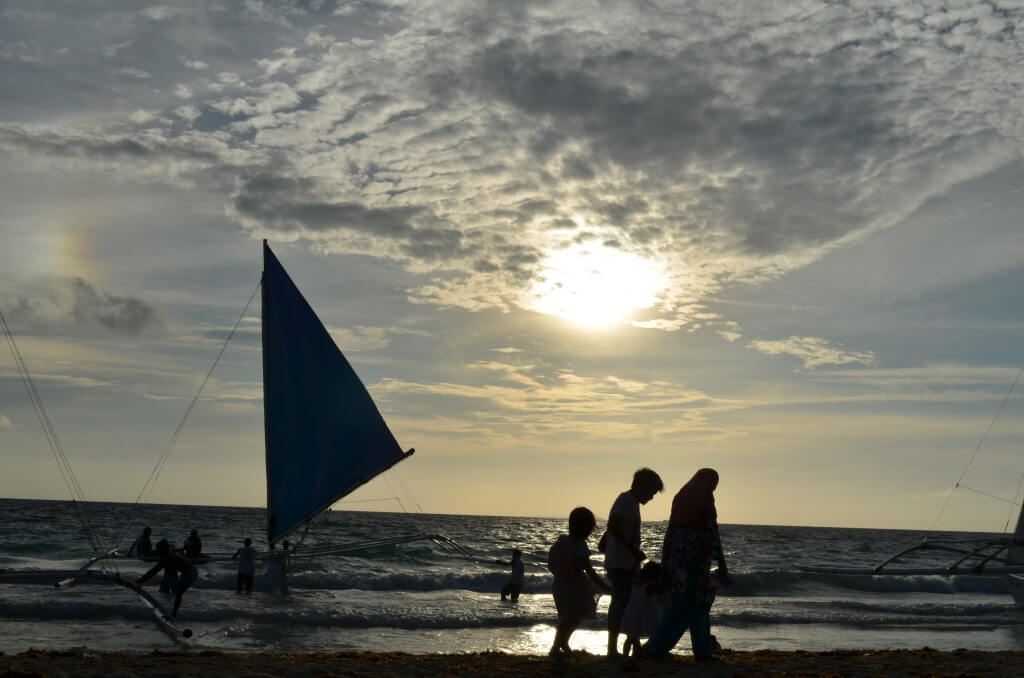 ボラカイ島 夕日 サンセット