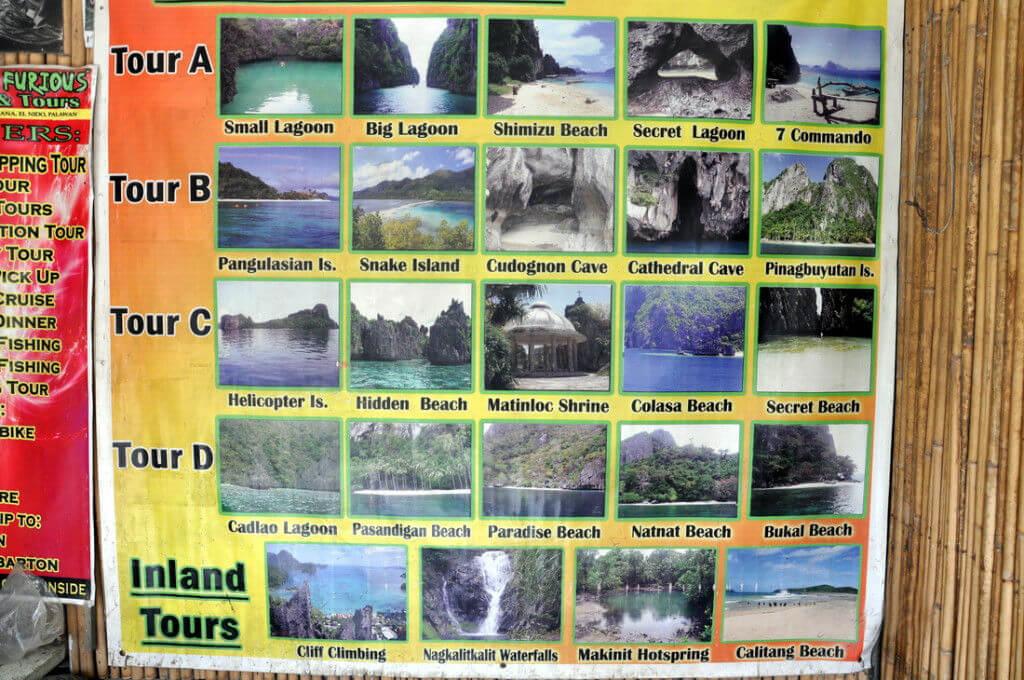 パラワン島エルニドのアイランドホッピングのおすすめのコース・内容・料金について