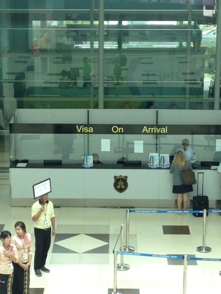 ミャンマー入国は事前にビザを取得していれば何の問題もなしです