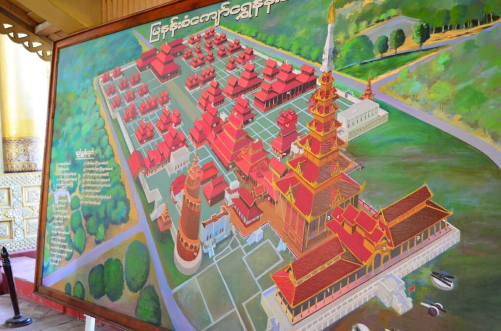 マンダレーの市内観光で王宮は再建されたものだから見なくてもOK