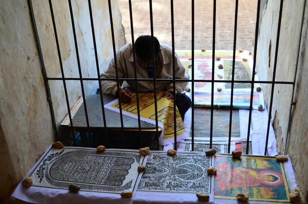 バガン遺跡 ミャンマー 絵描き