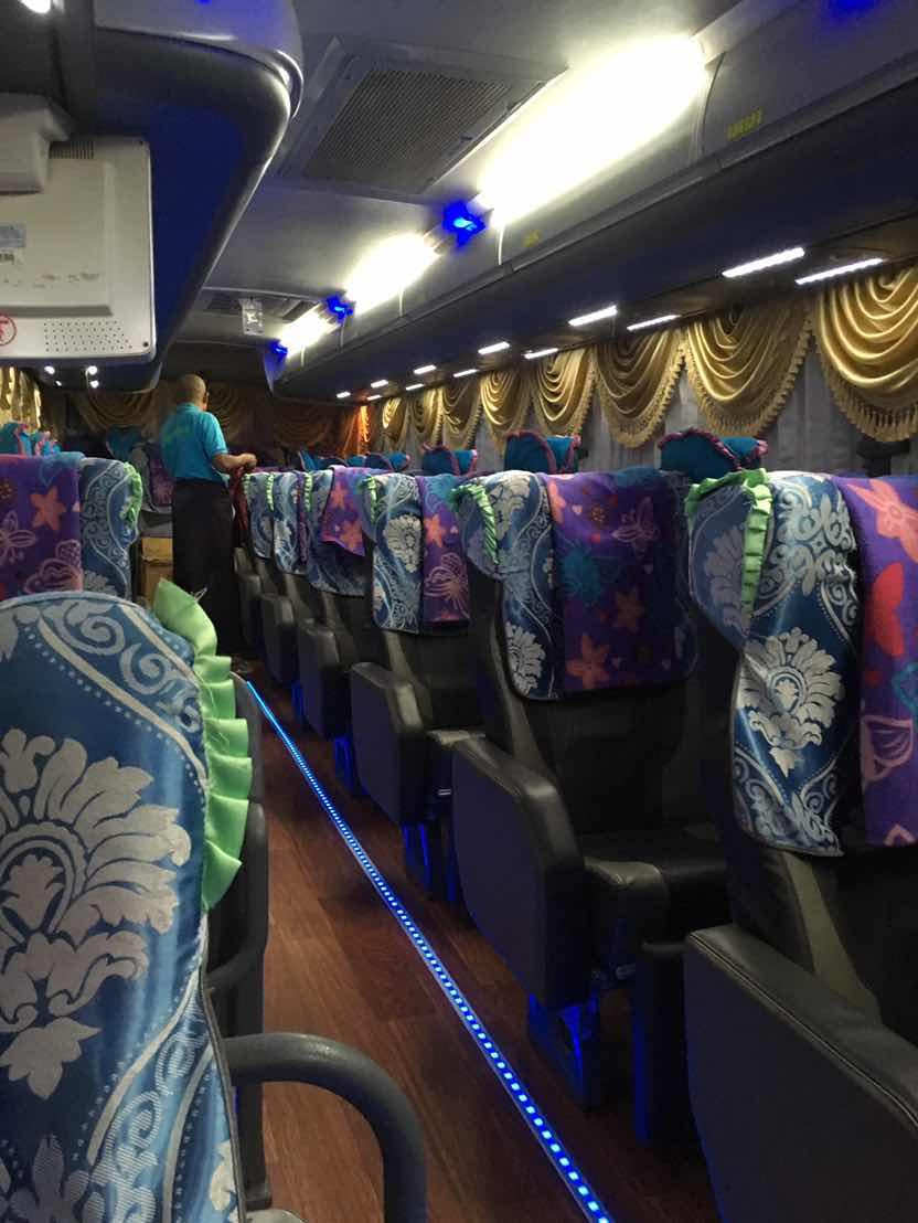 JJ EXPRESS(JJエクスプレス)のVIPバスは豪華で3列シートにふっかふかでバスアテンダントが至れり尽くせり