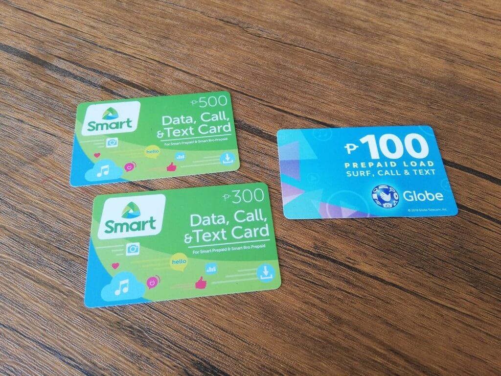 モール・スマホショップで売られているSMARTやGlobeのロードのプリペイドカードを買ってチャージする方法
