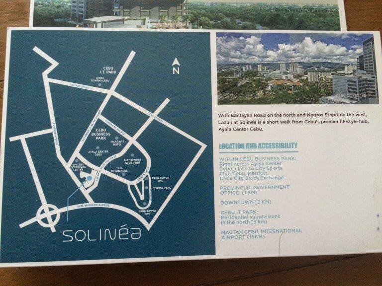 フィリピンの不動産でソリニア(SOLINEA)の場所や設備