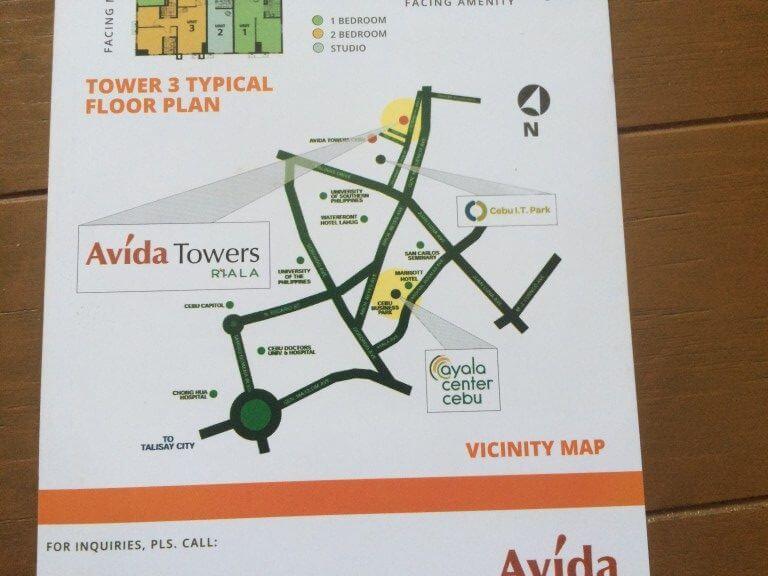フィリピンの不動産でアビダタワーリアラ(AvidaTowerRIALA)の場所や設備