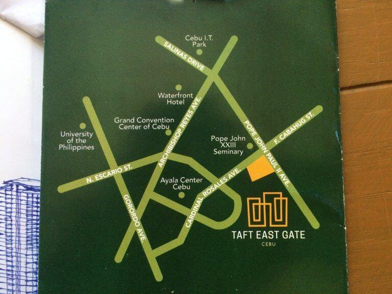 フィリピンの不動産でTAFT EAST GATEの場所や設備
