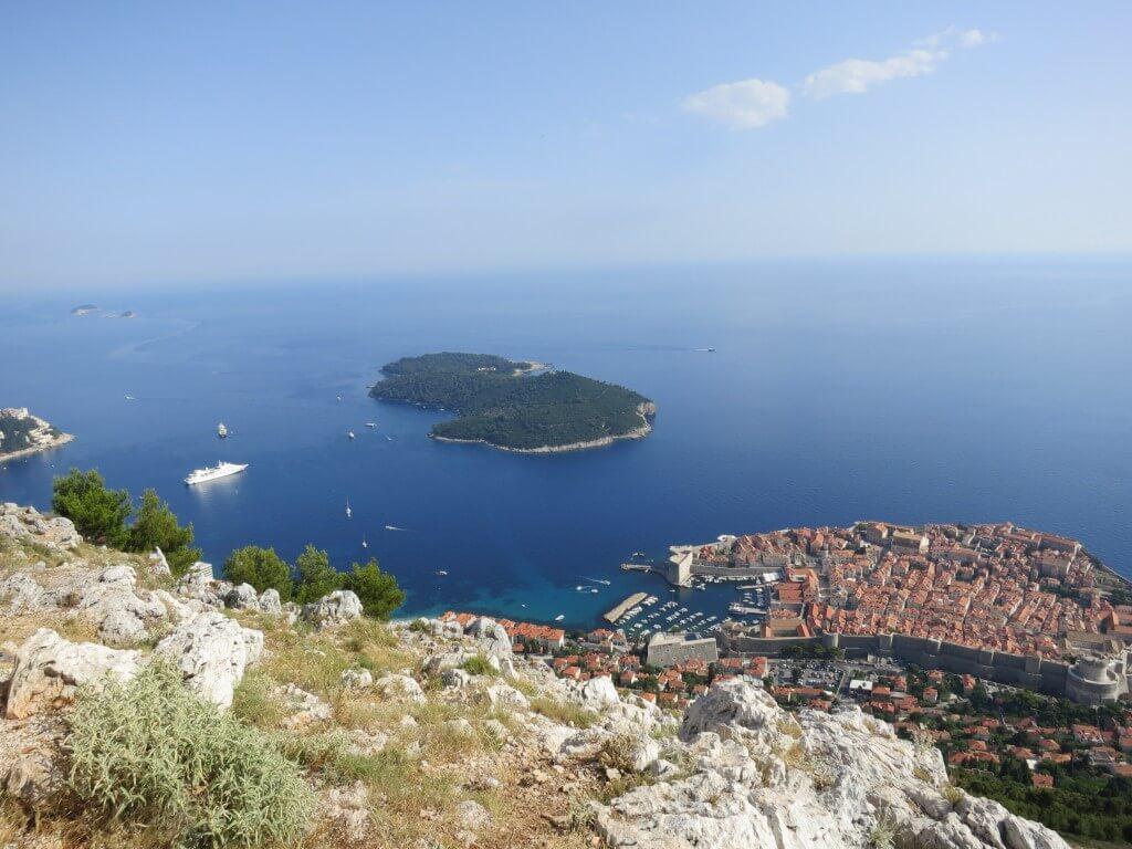 スルジ山 ドブロブニク 景色 魔女の宅急便 クロアチア