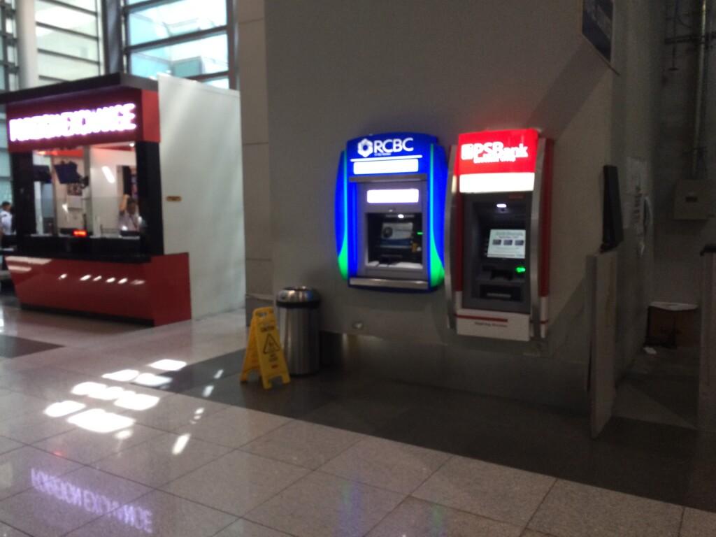 ニノイ・アキノ空港のATMで楽天カード(クレジットカード)の海外キャッシングでフィリピンペソを引き出そうと思ったら?