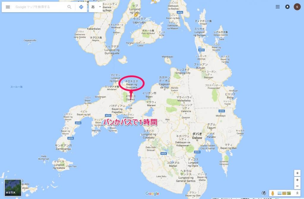 ミンダナオ島 オロキエタ 場所 マップ