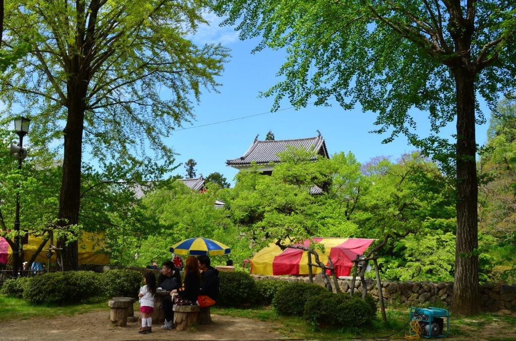 上田城跡公園には観光客がいっぱい!イベントがいっぱい!