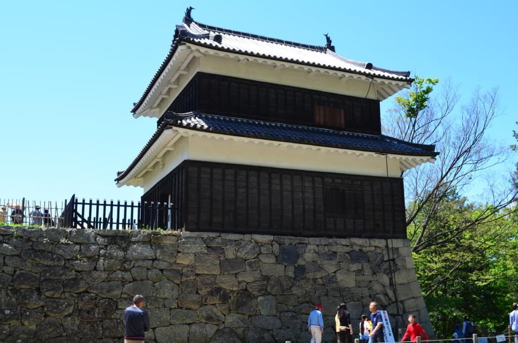 門をくぐればそこには北櫓に南櫓、真田神社が目の前に現れる
