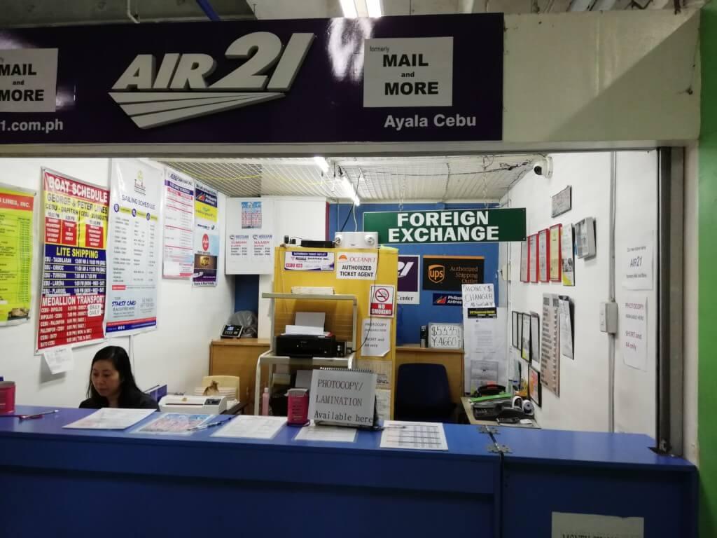 アヤラモールの4階のmore serviceにあるAIR21