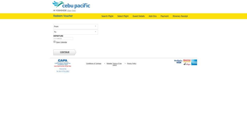 ウェブからの予約でも完全無料ではなく、一律200ペソになる!
