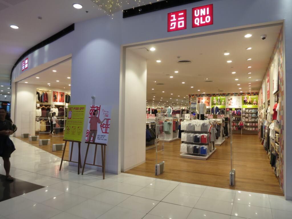 SMシティ・バコロドはユニクロなど有名ブランド店も入っている