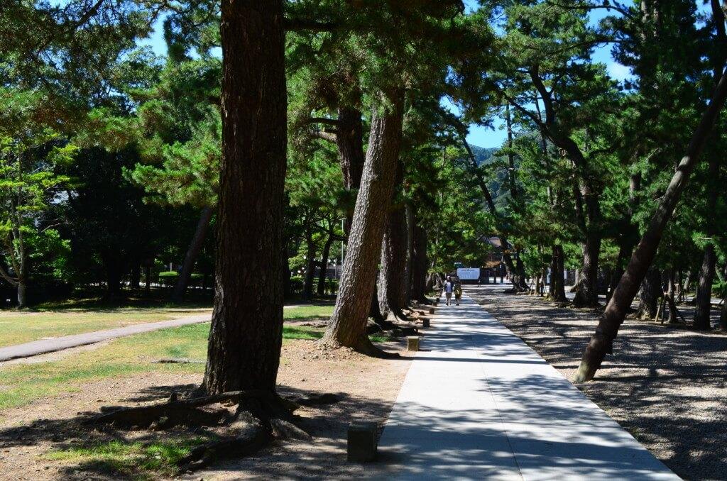 出雲大社 松の参道を歩いて行くと左手に「手水舎」