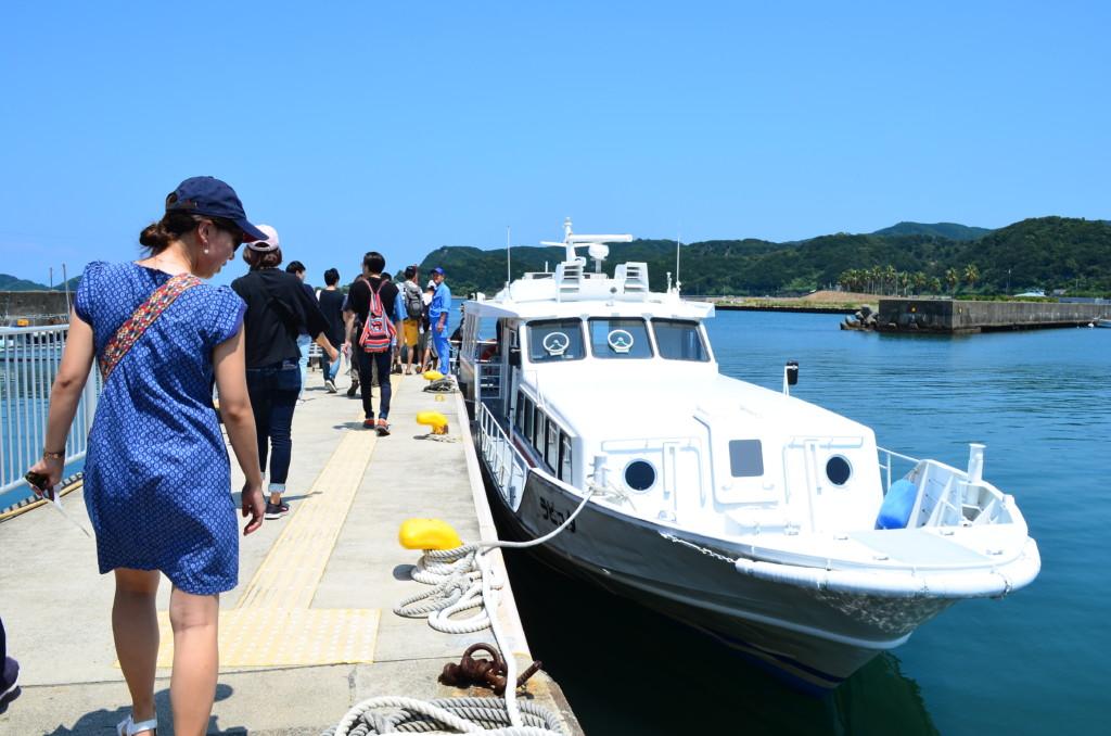 友ヶ島へのアクセスは加太港の船(フェリー)のみ